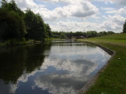 Canal at by Dudley Tunnel