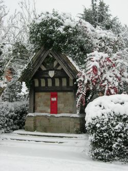 Rous Lench Post Box In The Snow