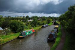 The canal by Tardebigge locks