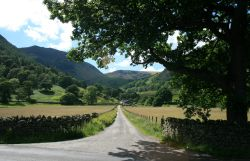 The lane to Seldom Seen Farm, Glencoyne Bay, Ullswater. English Lakes.
