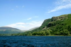 Derwentwater, a view looking north from a pleasure craft.