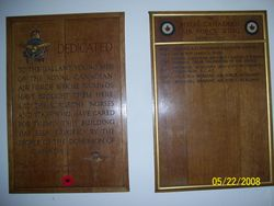 Plaque in Honour of the RCAF at Queen Victoria Hospital