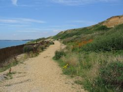 Coastal path at Barton on Sea