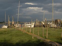 Skippool creek on a stormy June day