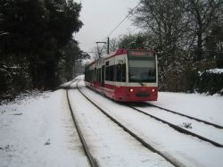 Tram in the Snow.