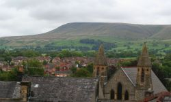 The rooftops of Clitheroe
