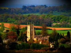 LOMO-ised view of Chipping Campden, Gloucs.