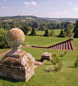 Chilham Castle, Kent. View from the terrace