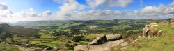 Panorama from Curbar Edge Wallpaper