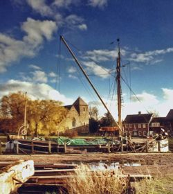 Sailing barge at Lower Halstow, kent