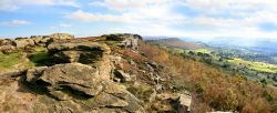 Curbar and Baslow Edge Panorama Wallpaper