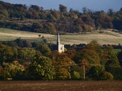 Distant view of Ivinghoe Church, Bucks.