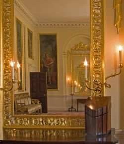 The Dining Room at Danson House by candlelight.