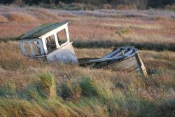 Derelict boat at Thornham Harbour