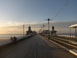 A quick peer at the pier - North Pier - Blackpool - as the sun sets....November 2008....