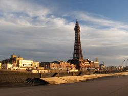 Blackpool - The Tower from the North Pier - a beautiful November afternoon.