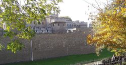 Side of Tower of London Complex Wallpaper