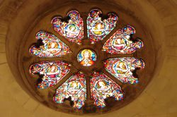 The Temple Church - Stained Glass Rose Window
