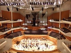 Interior Bridgewater Hall: home to the great Halle Orchestra