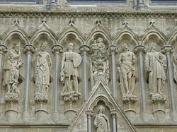 Detail west Front Salisbury Cathedral