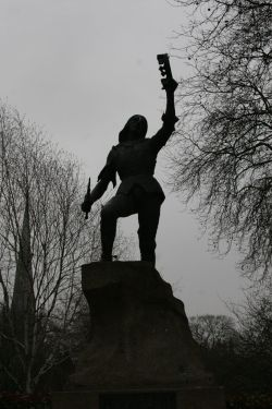 Richard the Third statue in castle gardens Leicester