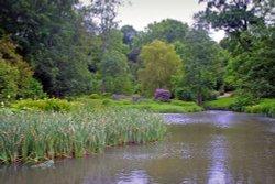 Lake and Gardens at Ightham Mote Wallpaper