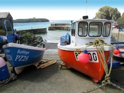 Fishing boats at Mullion Harbour