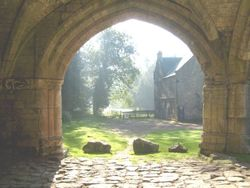 Roche Abbey early morning during October 2008