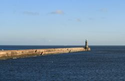 The North Breakwater at Tynemouth.