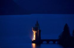 The Straining Tower, Lake Vyrnwy at Night