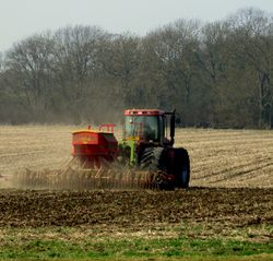 Spring Sowing at Toft Farm.