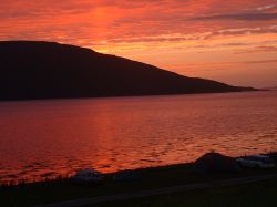 Wonderful sunset over Lochbroom and the Summer Isles