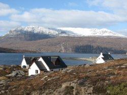Ben Mor Coigach and Ardmair Bay in the winter