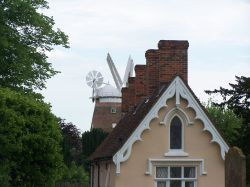 Almshouse and Windmill Thaxted