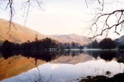 Ullswater, winter reflections near Glenridding.