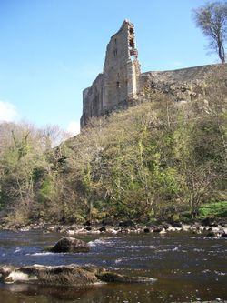 Barnard Castle from the banks of the River Tees