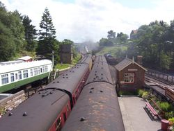 Steam trains at Goathland Station