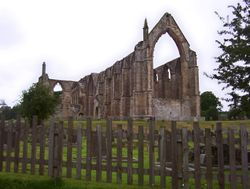The remains of Bolton Abbey