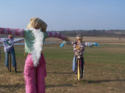 Scarecrows at Hyde Hall