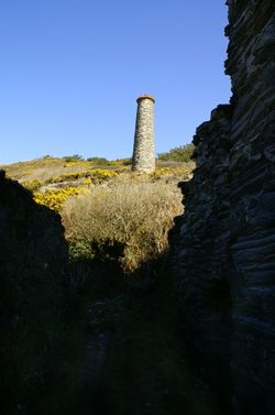 The mine chimney stack.