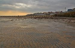 Bridlington beach in January