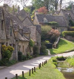 Cottages at Bibury, in the Cotswolds