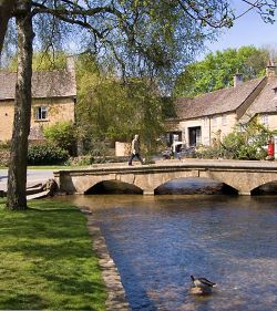 The River Windrush at Boughton-on-the-Water, Gloucestershire