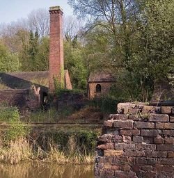 Derelict Brick & Tile Works at Blists Hill, Shropshire