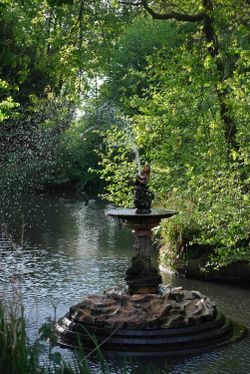 The fountain at Haden Hill park