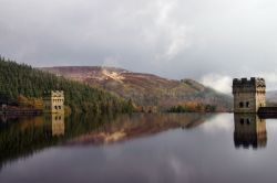 Derwent  Reservoir Derbyshire on a stormy day