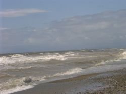 A 'breezy' day on Cleveleys beach