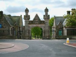 Main entrance to Elswick Cemetery
