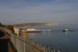 Overlooking Sandown Pier from Cliffs on top.