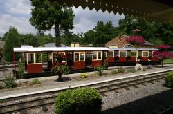 The Longleat railway station.